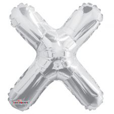 Silver Letter Balloon - X - (14 Inches)