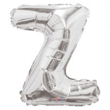 Silver Letter Balloon - Z - (14 Inches)