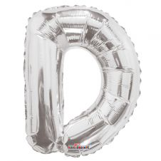 Silver Letter Balloon - D - (14inch)