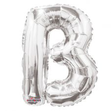 Silver Letter Balloon - B - (14inch)