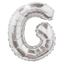 Silver Letter Balloon - G - (14inch)
