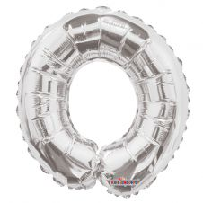 Silver Letter Balloon - O - (14inch)