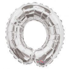 Silver Letter Balloon - O - (14inch)