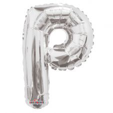 Silver Letter Balloon - P - (14inch)