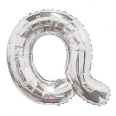 Silver Letter Balloon - Q - (14inch)