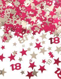 Silver Pink Star Confetti (Aged 18)