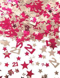 Silver Pink Star Confetti (Aged 21)