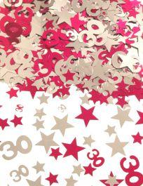 Silver Pink Star Confetti (Aged 30)