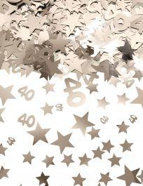 Silver Star Confetti (Aged 40)