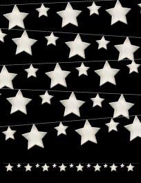 Silver Star Foil Garland (3.3 meter)