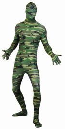 Skinz Camouflage Adult Costume