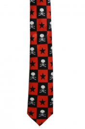 Skull and Stars Neck Tie