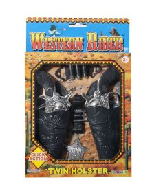 T Western Riders Twin Holster Set