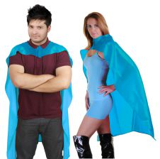 Wicked Fun Turquoise Deluxe Satin Cape