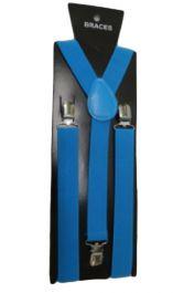 Turquoise Plain Braces 2.5 cm