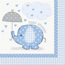 UmbrellaPhants Blue Lunch Napkins
