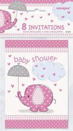 UmbrellaPhants Pink Invites