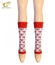 Union Jack Ruched Top Leg Warmer