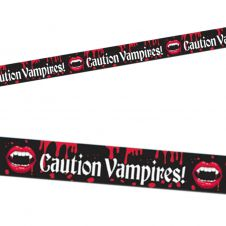Vampire Blood Bite Caution Tape