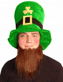 Velvet Leprechaun Hat with Beard