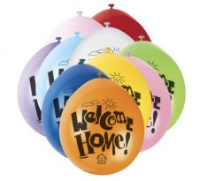 Welcome Home Printed Balloons (Pack of 10)