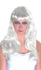White Long Straight Wig