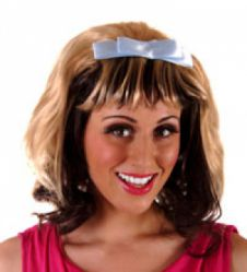 Wig With Blue Bow