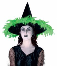 Witch hat with feather