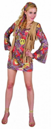 Woodstock Flower Girl Adult Costume