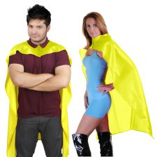 Wicked Fun Yellow Deluxe Satin Cape