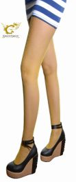 Ladies Yellow Fishnet Tights