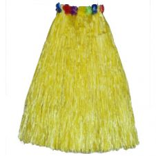 Yellow Hula Skirt with Flowers (80cm)