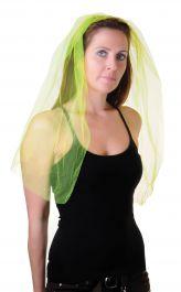 Yellow Veil on Hair Band