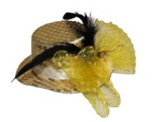 Yellow sequin Fascinator