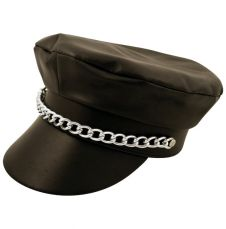 Adult Black Biker Hat