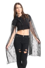 Adult Black Spider Cape