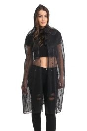 Adult Black Spider Hooded Cape