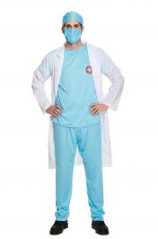 Adult Doctors Scrubs Costume