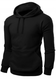Adult Fleece Pullover Black Hoodie