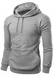 Unisex Fleece Pullover Silver Grey Hoodie