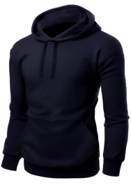 Adult Fleece Pullover Navy Hoodie