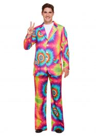 Adult Hippie Tie Dye Man Costume