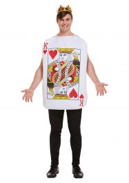 Adult Playing Card King Of Hearts D/up