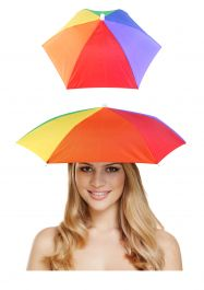 Adult Rainbow Umbrella Hat