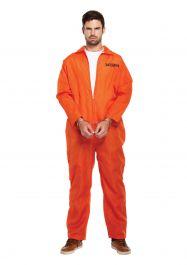 Adult Prisoner Orange Overall Costume
