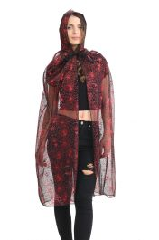 Adult Red Spider Hooded Cape