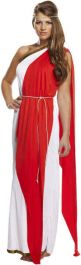 Adult Roman Red Lady Costume