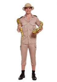 Adult Safari Explorer Fancy Dress Costume