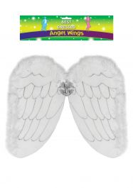 Adult White Angel Wings D/up