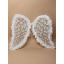 Adult White Angel Xmas Wings